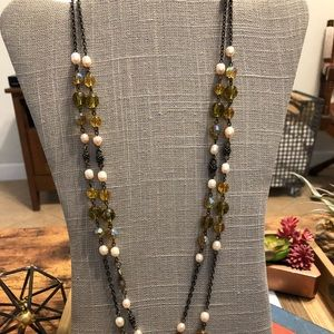 Antique. Canary Chic. Necklace.